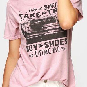 life is short eat cake t-shirt
